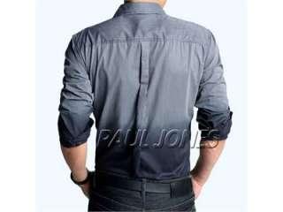 NEW Men Fit Long Sleeve Gradient Casual/dress Shirt/blouse ST07
