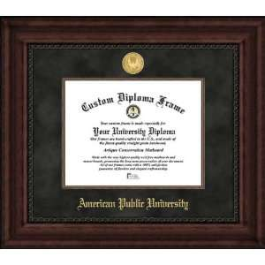 American Public University Volunteers   Gold Medallion   Suede Mat