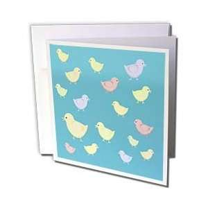 Baby chickens in pastels.   Greeting Cards 12 Greeting Cards with