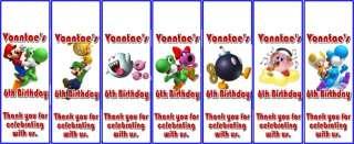 Super Mario Personalized Birthday Invitations & Favors