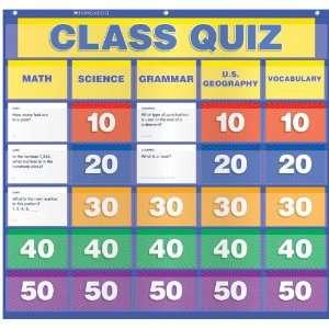 Scholastic Teachers Friend Class Quiz Pocket Chart