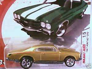 Hot Wheels 1967 PONTIAC GTO 67 Gold 2005 Holiday Rods