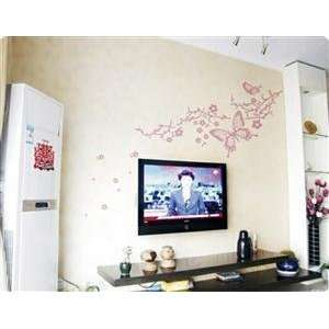 Big Butterfly PVC Wall Decal Sticker   Pink