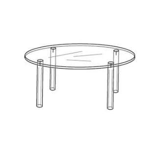 Acrylic Round Table Figurine Display Stand 4w x 3h