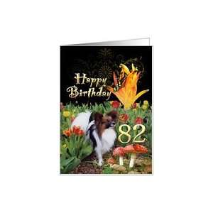 Butterfly Papillon dog tulip garden lady bug Happy 82