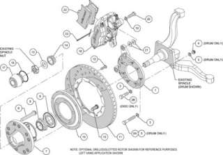Front Disc Brake Kit Wilwood 140 11071 D