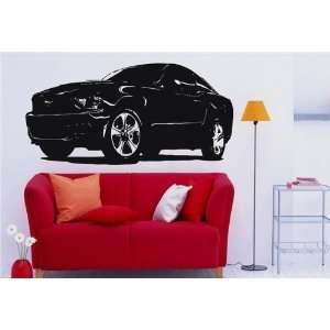Wall Mural Vinyl Sticker Car Ford Mustang S. 1209