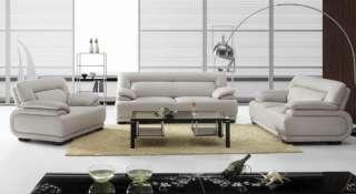 ENZO WHITE Italian Leather SOFA LOVESEAT CHAIR LOOK