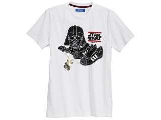 Adidas Originals Star Wars Darth Vader White Black Red Cotton T Shirt