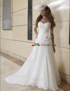 Custom White/Ivory Taffeta Wedding Dresses/Gowns Size2 4 6 8 10 12 14
