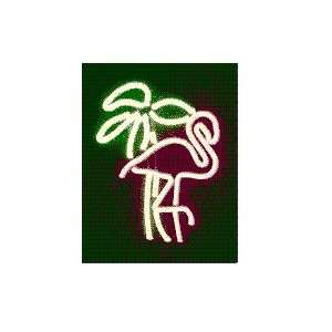 Neon Flamingo with Tropical Palm Tree: Everything Else