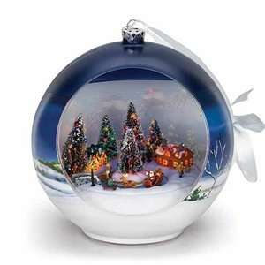 Mr Christmas Santa And Sleigh Musical Ornament