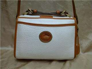 DOONEY & BOURKE WHITE AWL & BRITISH TAN LEATHER SHOULDERBAG/HANDBAG W