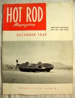 Hot Rod Magazine December 1949 Twin Tank Streamliner