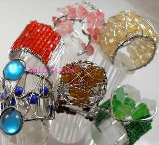 Rhinestone beads design RINGS WHOLESALE fashion lot jewelry