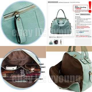 High quality genuine leather handbag perfect womens tote shoulder bag