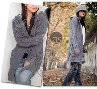 Sleeve Hoodie Coat Cardigans trench Sweater Warm Fashion #136