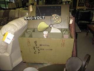Large Green Vintage Army Storage Trunk Army Storage Box Supply Chest