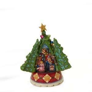 Jim Shore Heartwood Creek Christmas Tree With Hidden Scene