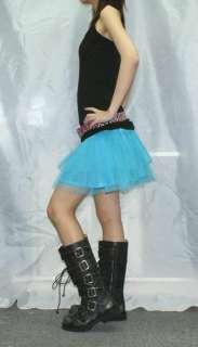 Diy Blue tutu mini skirt lolita gothic punk rock emo