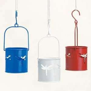 Dragonfly Lantern with Battery Operated Flickering Tealight   BLUE