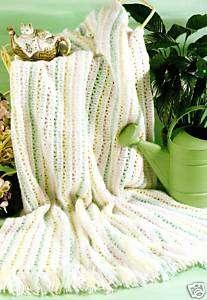 PRETTY Elegant Pastels Baby Afghan/Crochet Pattern