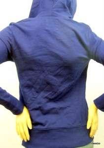 New Old Navy Blue Maternity Zip Up Hoodie Sweatshirt Sweater Top Size