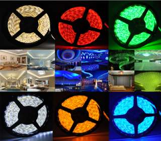 16FT 3528 5050 smd waterproof 300 led light strip White Warm Blue Red