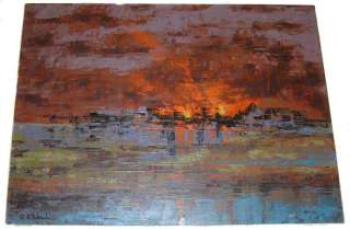 Richard Florsheim Sunset Landscape Oil Painting