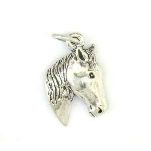 Sterling Silver Horse Head Charm Jewelry