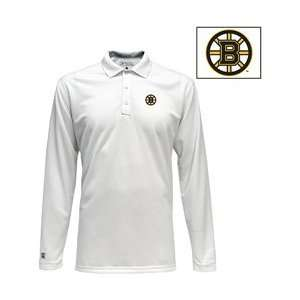 Antigua Boston Bruins Victor Long Sleeve Polo Shirt   BOSTON BRUINS
