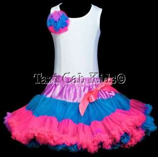 Pettiskirt Tutu Set   Pink Sweet Flower Girl Birthday