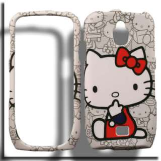 Samsung Exhibit 4G SGH T759 T Mobile Hello Kitty Cover Skin A Holster
