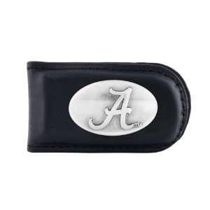NCAA Alabama Crimson Tide Black Leather Magnet Concho