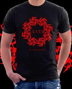 New ULVER Blood Inside Rock Band Black T shirt S   XL