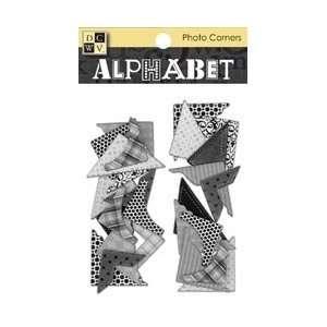 Chipboard Photo Corners   Black/White/Silver Arts, Crafts