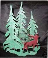 Home Interiors HOMCO Elk w/trees Candle Wall Décor