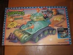 1989 VINTAGE TMNT TURTLE TANK VEHICLE PLAYMATES MIB