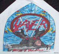 SLAYER Vintage Concert SHIRT 80s TOUR T RARE ORIGINAL 1986 Altar Of
