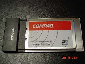 COMPAQ WL110 WIRELESS LAN PC CARD PCMCIA 802.11B WIFI