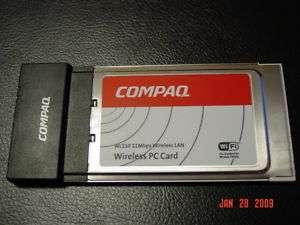COMPAQ WL110 WIRELESS LAN PC CARD PCMCIA 802.11B WIFI