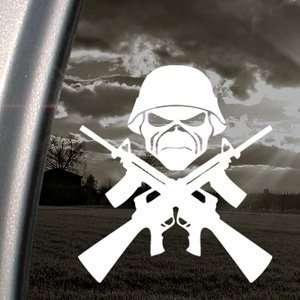 Eddie Machine Guns Iron Maiden Decal Band Car Sticker