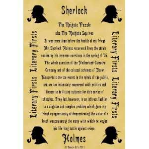 First Lines Sherlock Holmes The Reigate Puzzle