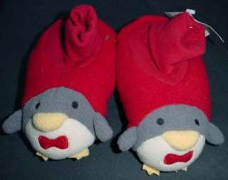 NWT Gymboree boy girl CHRISTMAS penguin slippers 7 8