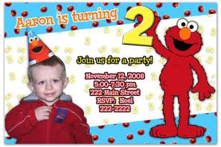 Elmo Custom Photo Birthday Invitations Sesame Street a