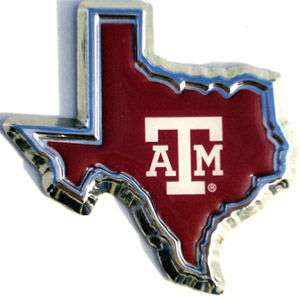 Texas A&M Dome Car Emblem   Metal