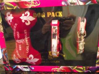 CHRISTIAN AUDIGIER DOG PACK Collar Leash Toy Set Size SMALL DOG Fast