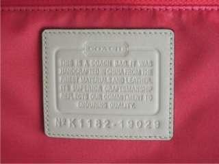 Coach 19029 Poppy Flower Glam Canvas Tote Handbag & Wristlet 47196