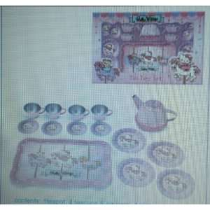 Japanese Sanrio Hello Kitty Tin Tea Set Carousel Toys