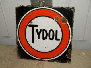 Gasoline Flyng A Associated Porcelain Pump Oil Sign Original HTF